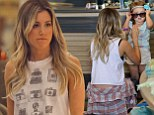 She wants to be like you! Ashley Tisdale gives her niece Mikayla sunglasses to wear as they go shoe shopping