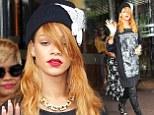 Rihanna in a hat
