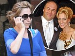 Edie Falco out in New York the day after Sopranos' co-star James Gandolfini's death