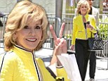Jane Fonda, 75, steals the spotlight from J-Lo's Hollywood Walk of Fame induction in bright-yellow jacket