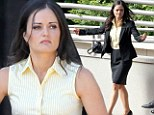 On the set: Danica McKellar was back to work on Thursday on the set of The Wrong Woman following her recent divorce