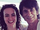 Sally Wood Twitter picture with Ronnie Wood