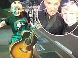 Stephanie Dunn on stage with Bruce Springsteen at Glasgow's Hampden Park
