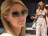 Salon style: Paris Hilton emerged from a salon in Beverly Hills, California on Wednesday in a stylish outfit as she prepared for a weekend trip to Las Vegas