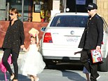 Nicole Richie and Joel out With their Children daughter Harlow and sin Sparrow Madden out for lunch in LA