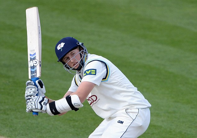 Making a statement: Joe Root proved to the England selectors again he has what it takes at the top level