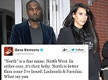 Kim and Kayne name their daughter North West