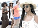 Island life: A trendy Solange Knowles goes for a stroll around the island of Hvar in Croatia with her friends