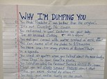 In an image posted on Imgur Wednesday, a woman lists the 20 hilarious reasons she can't stand to be with her boyfriend anymore