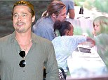 Brad Pitt enjoys Japanese meal with Shiloh and Zahara in Madrid as Angelina Jolie's stunt double reveals details about the couple's first months together