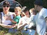 Selma Blair is consoled by ex-boyfriend Jason Bleick in the wake her bitter Anger Management firing