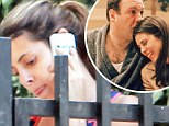 'I treasure my memories with him': Jamie-Lynn Sigler, pictured in LA on Thursday, has paid tribute to her TV father James Gandolfini