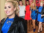 Curvy Demi Lovato is electric in blue frock for X Factor press conference as she sits through the 'best and worst' New York auditions