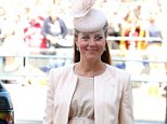 Not taking any risks: The Duchess of Cambridge, who is now heavily-pregnant, has decided not to attend a society wedding in Northumberland