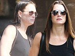 Look what the cat dragged in! Brooke Shields dashes to the salon with wet hair and emerges a sleek winner