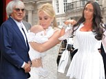 Another Ecclestone knees-up! Tamara and Bernie support doting mother Petra at baby daughter Lavinia's christening