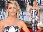 Forgetting to put her best foot forward? Julianne Hough suffers a rare fashion misstep in an ill-fitting peplum pant suit at the premiere of The Lone Ranger
