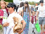 No 'Scar Tissue' here! Anthony Kiedis enjoys a low-key day with his son and girlfriend days after brawl with security