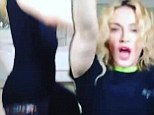Madonna posts a video of herself on instagram