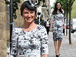 Haven't we seen that before? Pippa Middleton steps out for society wedding in the same monochrome dress Kelly Brook wore last month