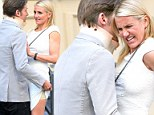 Gym junkie Cameron Diaz's OTHER slimming secret revealed: Actress' Spanx exposed as co-star pulls up her skirt on set