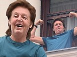 See, I can do more than just sing! Paul McCartney, 71, playfully flexes his muscles in Poland