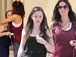 The family that shops together! Kate Beckinsale and her daughter Lily share a warm embrace as they stroll the streets of Pacific Palisades