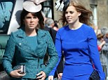 Members of the crowd shouted 'gorgeous' as the Princesses Beatrice (pictured) and Eugenie