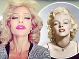 'Let see if blondes have more fun!': Lisa Rinna pouts provocatively as she emulates iconic Marilyn Monroe pose