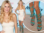 Leafy shoes: Reality star Brandi Glanville wears a pair of green gladiator shoes to a night club opening in Mount Pocono, Pa. Saturday