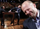 'After I win I'm going to change my name to Dick Longflop': Jason Statham wrestles Jimmy Fallon in a battle of one-liners and arms
