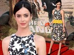 Simply frilling! Krysten Ritter looks stunning in pretty floral dress at The Lone Ranger world première