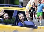 Who said marriage is hard work? Leslie Mann and Judd Apatow lark around on day out with their daughters