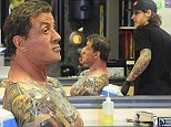 What do you ink of that? Sly Stallone, 66, adds to his tattoo collection at private appointment in Hollywood