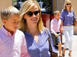 That's one perk of having a famous mother! Reese Witherspoon treats son Deacon, 9, to a pricey lunch date in Beverly Hills