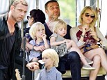 Just like Daddy! Liev Schreiber gives his son Sacha a lesson in public speaking as he hosts the TropFest New York