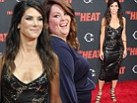Talk about turning up The Heat! Sandra Bullock is sexy in cut-out leather dress as she vamps it up at premiere with co-star Melissa McCarthy