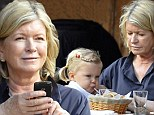 My girl: Martha Stewart enjoys lunch with her granddaughter Jude in New York on Sunday
