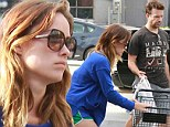Grocery run: Olivia Wilde showed off her toned legs during a shopping trip for food with fiance Jason Sudeikis