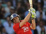 Hitting out: England's Luke Wright bats on the way to his half-century at the Oval