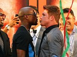 Golden boys: Floyd Mayweather has no fear over his unblemished record ahead of facing Saul 'Canelo' Alvarez