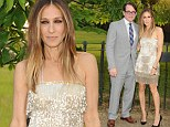 Retro style: Sarah Jessica Parker channeled the flapper era as she stepped out at the Serpentine Gallery Summer Party at Kensington Gardens in London on Wednesday