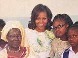 Social butterfly: Michelle Obama has joined Instagram - she uploaded her first image this morning showing her on the first leg of her Africa tour with a group of young women from the Martin Luther King Middle School in Senegal