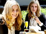 Mischa Barton grabs an early dinner at Tra di Noi in Malibu with a friend on Tuesday