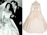 Elizabeth Taylor's first wedding dress likely to smash £50,000 estimate at auction... but you'll need a 22-inch waist to wear it