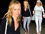 Karolina Kurkova was seen in two pairs of skinny jeans on Wednesday