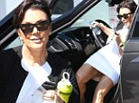 Kris Jenner gets out of her car in an unflattering way in Los Angeles, California on Wednesday