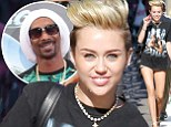 'We're very similar, we're both high': Miley Cyrus jokes about parallels with Snoop Lion on TV appearance in tiny denim shorts
