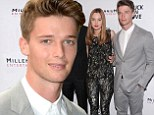 Anything Arnold can do! Patrick Schwarzenegger cuddles up to co-star Liana Leberato for the première of his first movie Stuck In Love