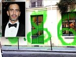 Marc Jacobs embraces graffiti scrawled across his Paris shop front ... by printing £450 T-shirts of it and making a tidy profit